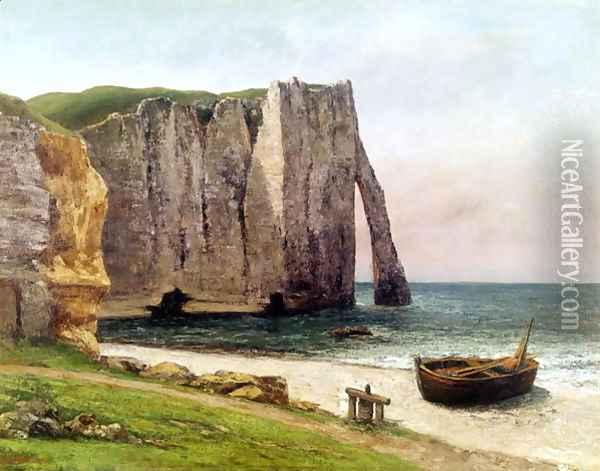 The Cliffs at Etretat, 1869 Oil Painting - Gustave Courbet