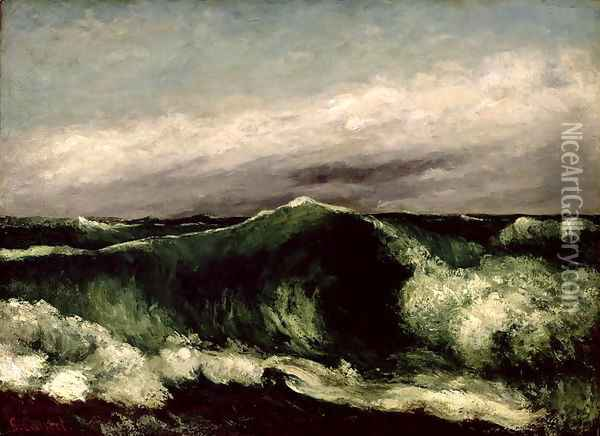 The Wave, 1869 Oil Painting - Gustave Courbet