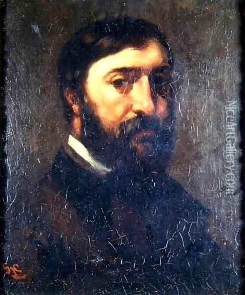 Portrait of Urbain Cuenot (b.1820) 1846 Oil Painting - Gustave Courbet