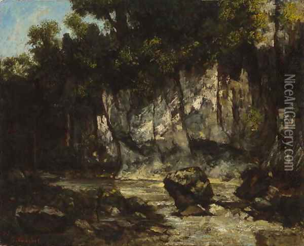 Landscape with Stag, 1873 Oil Painting - Gustave Courbet