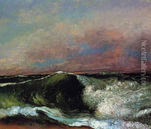 The Wave, 1870 2 Oil Painting - Gustave Courbet