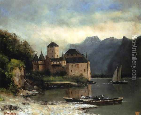View of the Chateau de Chillon Oil Painting - Gustave Courbet
