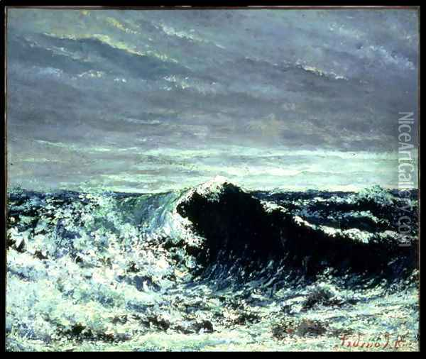 The Wave, c.1871 Oil Painting - Gustave Courbet