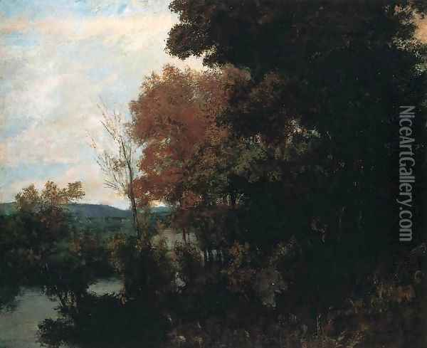 The Forest Edge Oil Painting - Gustave Courbet