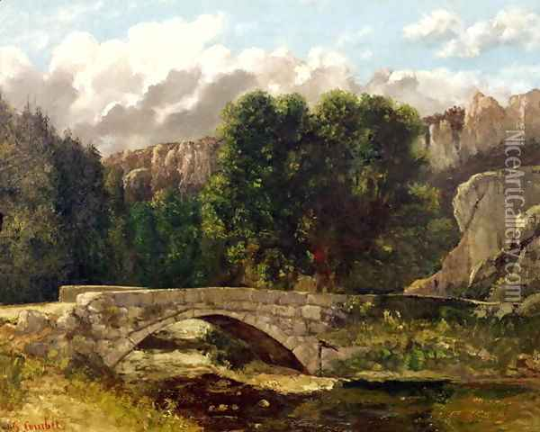 The Pont de Fleurie, Switzerland, 1873 Oil Painting - Gustave Courbet