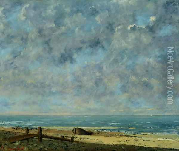 The Sea, c.1872 Oil Painting - Gustave Courbet