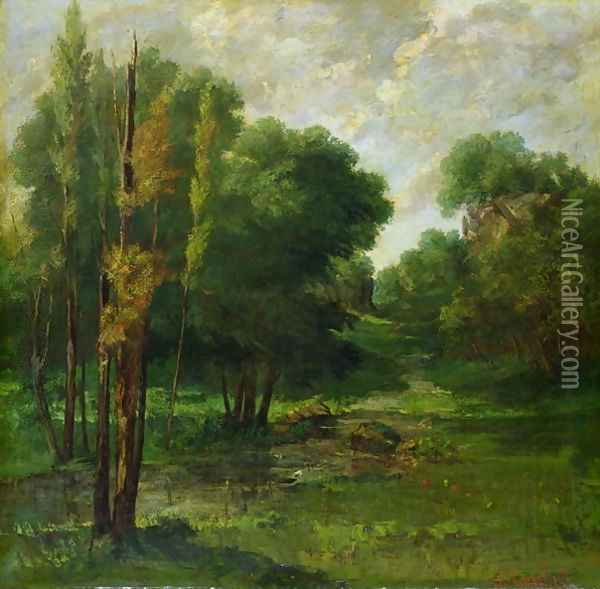 Forest Landscape, 1864 Oil Painting - Gustave Courbet