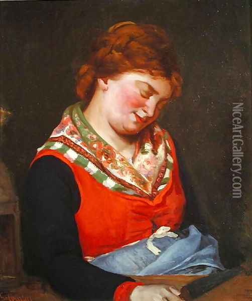 Peasant Woman Sleeping, 1853 Oil Painting - Gustave Courbet
