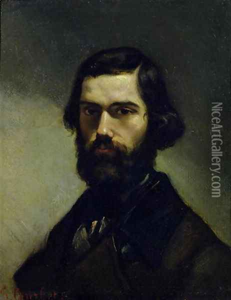 Portrait of Jules Valles (1832-85) c.1861 Oil Painting - Gustave Courbet