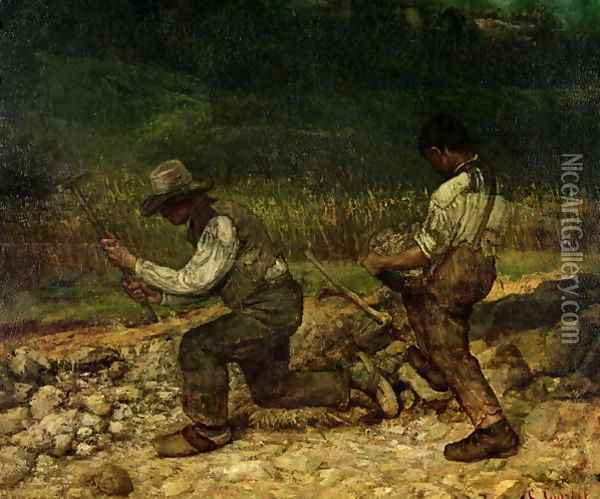 The Stonebreakers 2 Oil Painting - Gustave Courbet