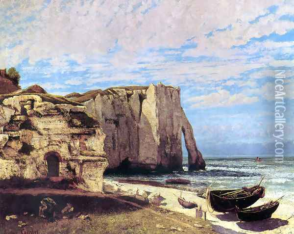 The Cliffs of Étretat After the Storm Oil Painting - Gustave Courbet