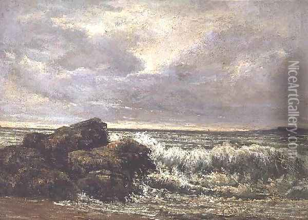 The Wave, 1869 2 Oil Painting - Gustave Courbet
