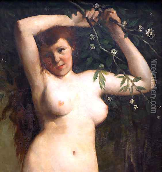 Torso of a Woman Oil Painting - Gustave Courbet