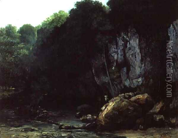 The Stream from the Black Cavern Oil Painting - Gustave Courbet