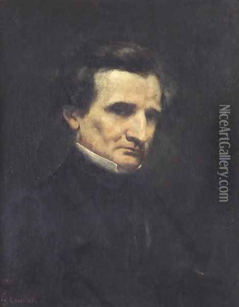Hector Berlioz (1803-69) 1850 Oil Painting - Gustave Courbet
