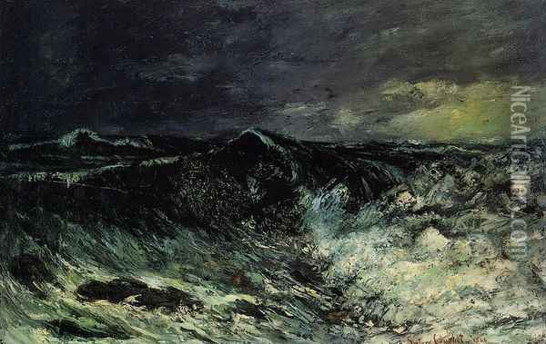 The Wave 2 Oil Painting - Gustave Courbet