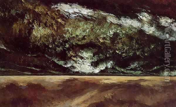 The Angry Sea 2 Oil Painting - Gustave Courbet