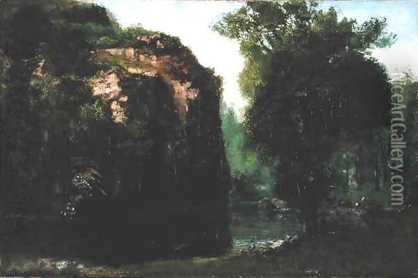 The Silent River, 1868 Oil Painting - Gustave Courbet