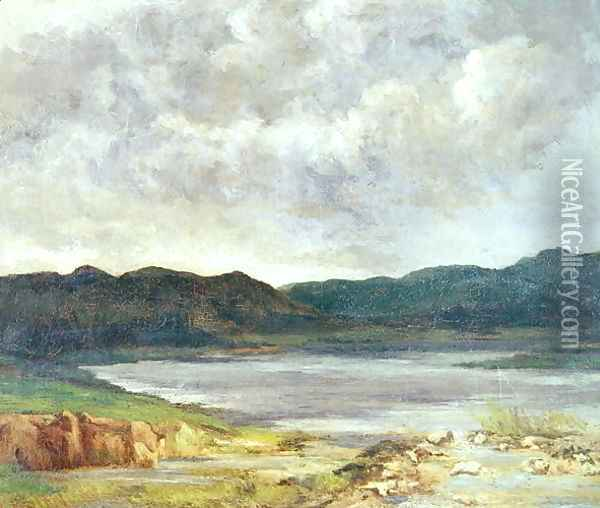 The Black Lake, 1872 Oil Painting - Gustave Courbet
