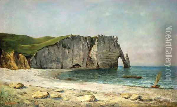 The Sea-Arch at Etretat, 1869 Oil Painting - Gustave Courbet