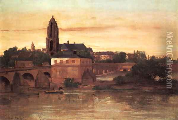 View of Frankfurt Oil Painting - Gustave Courbet