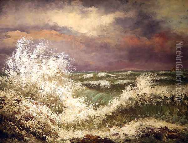 The Wave 4 Oil Painting - Gustave Courbet