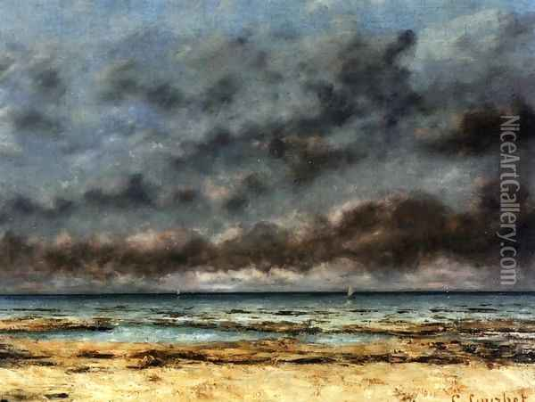 Calm Seas Oil Painting - Gustave Courbet