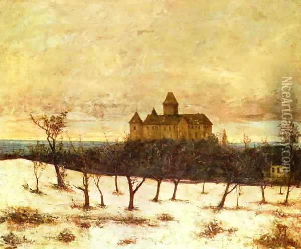 View of Neuenburger Oil Painting - Gustave Courbet