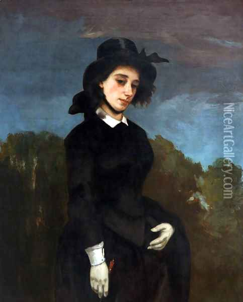 Woman in a Riding Habit Oil Painting - Gustave Courbet