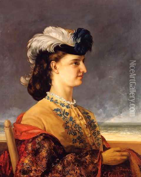 Portrait of Countess Karoly Oil Painting - Gustave Courbet