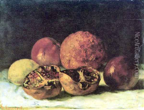 Pomegranates Oil Painting - Gustave Courbet