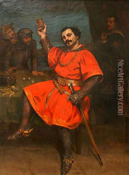 Louis Gueymard (1822-1880) as Robert le Diable Oil Painting - Gustave Courbet