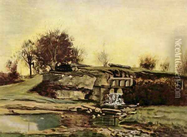 The quarry of Optevoz Oil Painting - Gustave Courbet