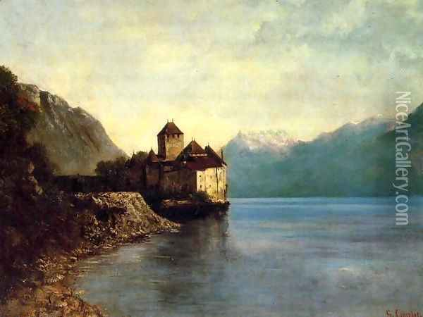 Chateau du Chillon Oil Painting - Gustave Courbet