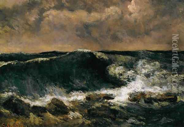 The Wave Oil Painting - Gustave Courbet