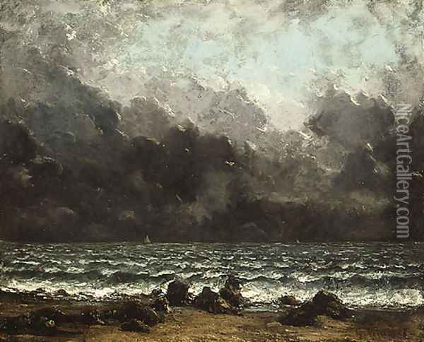 The Sea 1873 Oil Painting - Gustave Courbet