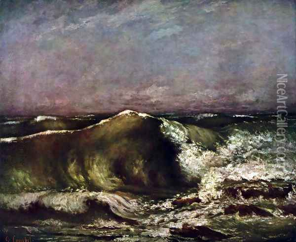 The wave 3 Oil Painting - Gustave Courbet