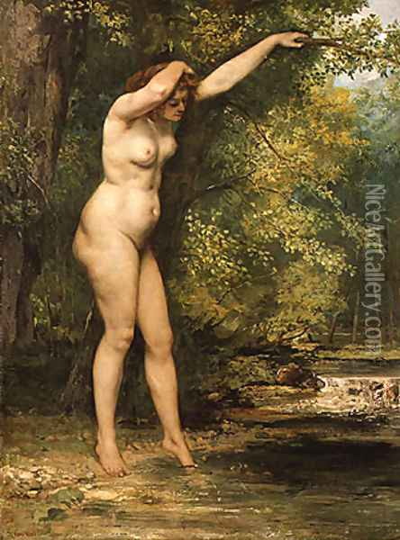 The Young Bather 1866 Oil Painting - Gustave Courbet