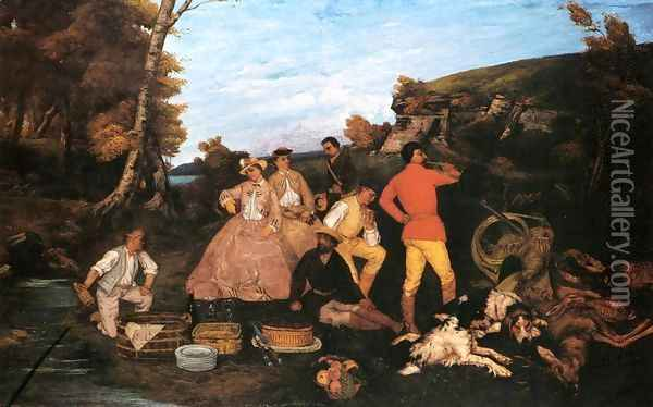 The Hunt Breakfast Oil Painting - Gustave Courbet