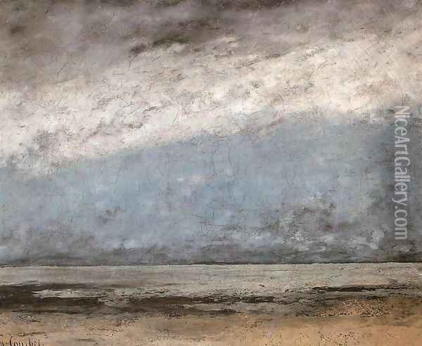 Beach near Trouville Oil Painting - Gustave Courbet