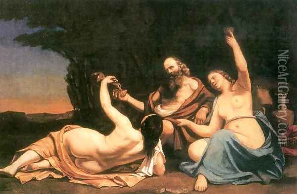 Lot and His Daughters Oil Painting - Gustave Courbet