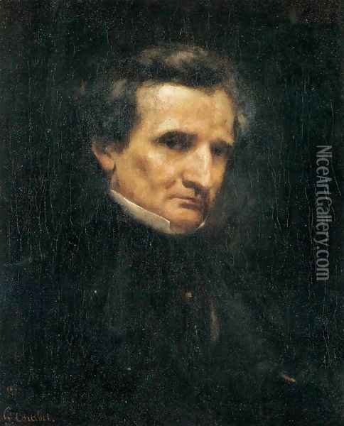Portrait of Hector Berlioz Oil Painting - Gustave Courbet