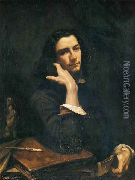 Self-Portrait (Man with Leather Belt) Oil Painting - Gustave Courbet