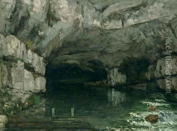The Grotto of the Loue 1864 Oil Painting - Gustave Courbet