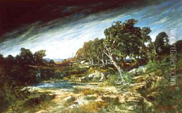 The Gust of Wind 1865 Oil Painting - Gustave Courbet