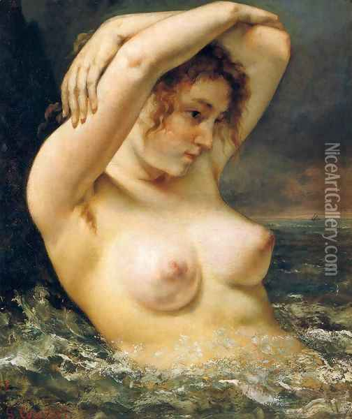 The Woman in the Waves 2 Oil Painting - Gustave Courbet