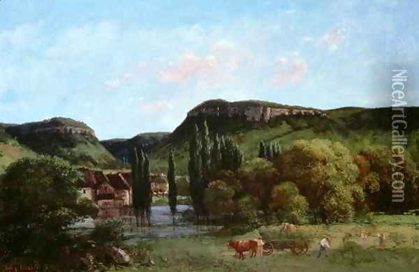 View of Ornans 1864 Oil Painting - Gustave Courbet