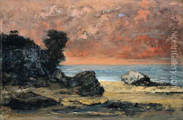 Aprs l'orage, Marine (After the Storm) Oil Painting - Gustave Courbet