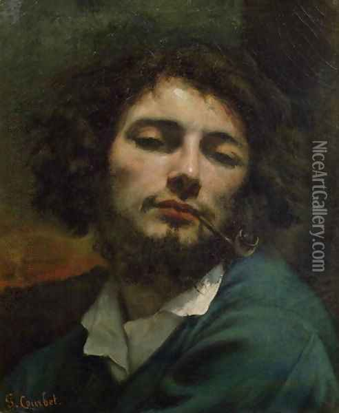 Self Portrait or The Man with a Pipe 1846 Oil Painting - Gustave Courbet