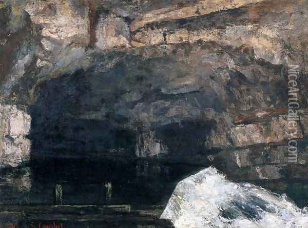 The Source of the Loue 2 Oil Painting - Gustave Courbet